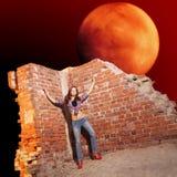 Auf den Ruinen Stockfoto