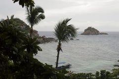 Auf den Süden der Insel von Koh Tao befindet sich ein kleines Bucht nam Lizenzfreies Stockfoto