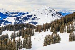Auf den Steigungen des Skiorts Brixen im Thalef Tirol Stockfotografie