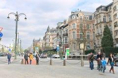 Auf den Straßen in Brüssel, Belgien Stockfotografie