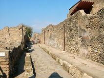 Auf den Straßen von Pompeji Stockfotos