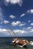 Auf den Strand gesetzt Lizenzfreie Stockfotografie