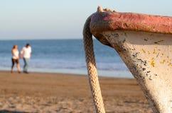 Auf den Strand gesetzt Stockfotografie