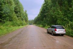 Auf den Waldwegen stockfoto