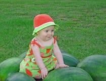Auf den Wassermelonen Lizenzfreies Stockfoto