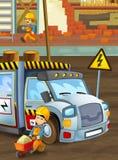 Auf der Baustelle - Illustration für die Kinder Lizenzfreie Stockfotos