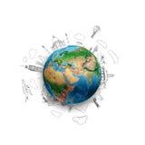 Auf der ganzen Welt Lizenzfreie Stockfotos
