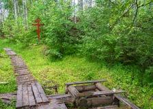 Auf der heiligen Quelle von Mary Magdalene in Kadyysky-Bezirk von t Lizenzfreies Stockfoto