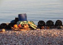Auf der Küstenlinie - Budleigh Salterton lizenzfreie stockfotografie