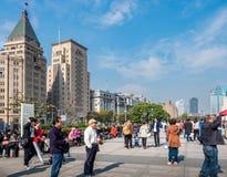 Auf der Promenade Shanghai, China Stockbild