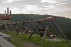 Auf der Rückseite der riesigen Berge Lizenzfreies Stockbild
