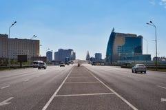 Auf der Straße in Astana Stockfotografie