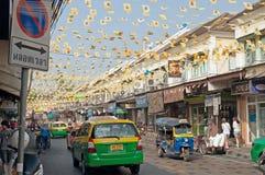 Auf der Straße in Bangkok Stockfotos