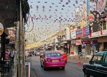 Auf der Straße in Bangkok Lizenzfreies Stockfoto