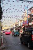Auf der Straße in Bangkok Stockfotografie