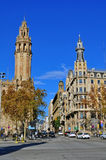 Auf der Straße von Barcelona, Spanien Lizenzfreies Stockbild