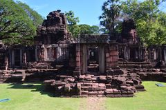 Auf der Straße zu Angkor: Phimai-Tempel - Thailand stockfoto