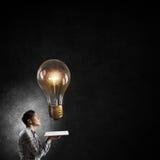 Auf der Suche nach heller Inspiration Lizenzfreies Stockbild
