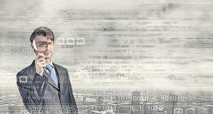 Auf der Suche nach Virus! Lizenzfreie Stockfotos