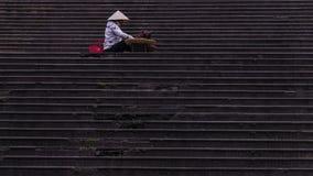 Auf der Treppe Lizenzfreie Stockfotos