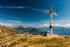 Auf die Oberseite des Berges Lizenzfreies Stockfoto