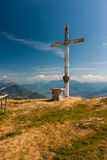 Auf die Oberseite des Berges Stockfotografie