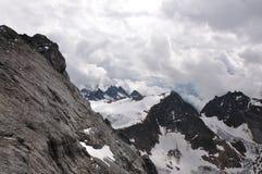 Auf die Oberseite des Berges Titlis Lizenzfreies Stockbild