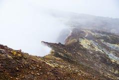 Auf die Oberseite von Ätna-Vulkan in Sizilien Lizenzfreies Stockfoto