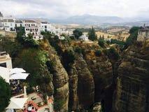Auf die Oberseite von Ronda, AndalucÃa in Spanien Lizenzfreie Stockfotografie