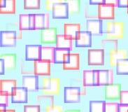 Auf einem blauen Hintergrund von farbigen Quadraten Lizenzfreie Stockfotos