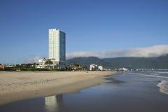 Auf einem einsamen Strand des Da Nang vietnam Stockbilder