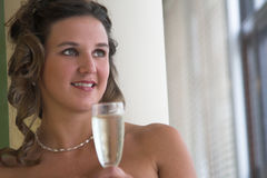 Auf einem glücklichen Hochzeitstag Lizenzfreies Stockbild