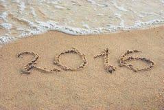 2016 auf einem Strand 1 Stockfotografie