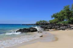 Auf einem Strand Sea Sand schaukelt Hawaii-Natur stockfoto