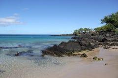 Auf einem Strand Sea Sand schaukelt Hawaii-Natur Stockfotografie