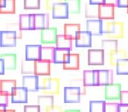 Auf einem weißen Hintergrund von farbigen Quadraten Stockbilder