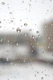 Auf einem Winter Tag regnend Lizenzfreies Stockfoto