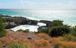 Auf einer Ozeanküste Guadeloupe Lizenzfreie Stockfotos