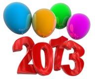 2013 auf FARBE steigt im Ballon auf (der Beschneidungspfad eingeschlossen) lizenzfreie abbildung