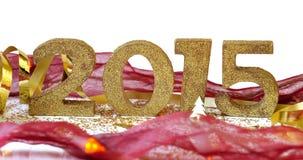 2015 auf festlicher Dekoration Lizenzfreie Stockbilder