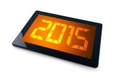 2015 auf generischer Tablet-PC-Anzeige Stockfotos