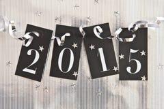2015 auf glänzendem Hintergrund Stockfoto