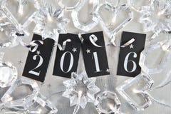 2016 auf glänzendem Hintergrund Lizenzfreie Stockfotos