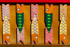 Auf Holz schnitzen, Haus ornation Lizenzfreie Stockbilder
