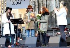 Auf 75. Jahrestag von John Lennon-Festival in Riga Stockbild