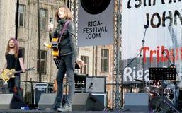 Auf 75. Jahrestag von John Lennon-Festival in Riga Lizenzfreies Stockbild