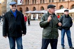 Auf 75. Jahrestag von John Lennon-Festival in Riga Lizenzfreie Stockfotografie