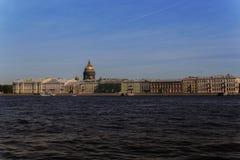 Auf Küste von Neva Stockfoto