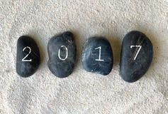2017 auf Kieseln Stockbild