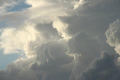 Auf kommendem Sturm Stockfoto